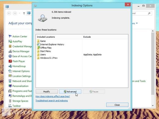 Cara Menambah atau Menghapus File Type Dari Index Windows 8