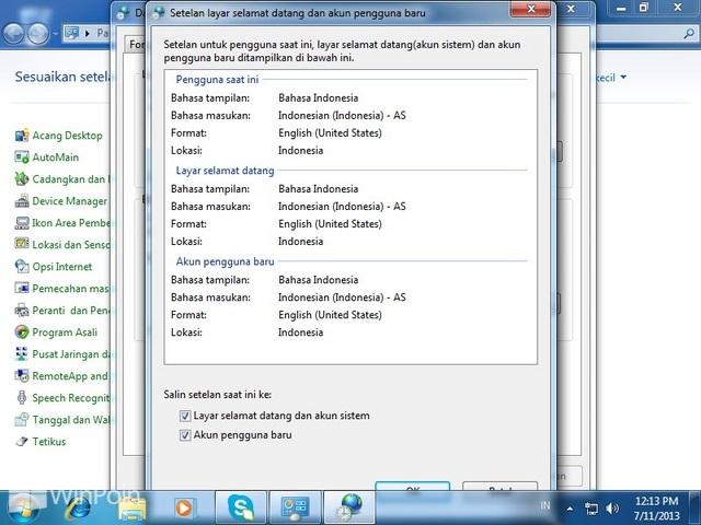 Cara Mengganti Bahasa Windows 7