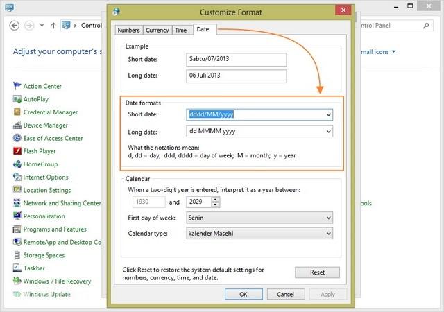 Cara Mengganti Format Tanggal di Windows 8