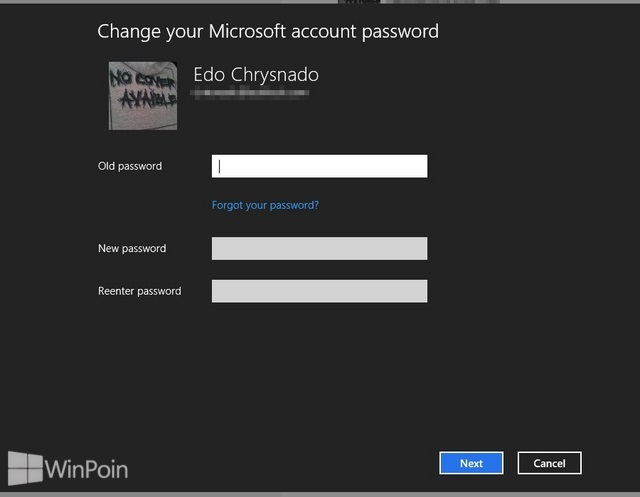 Cara Mengganti Password Akun Microsoft di Windows 8