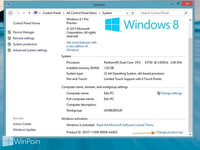 Cara Mengganti Product Key di Windows 8