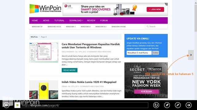 Apa itu Flip Ahead? Bagaimana Cara Menggunakannya di Internet Explorer 10??