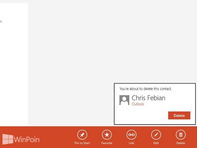Cara Menghapus Kontak dari Aplikasi People di Windows 8