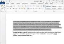 Cara Membersihkan Semua Format Penulisan di Word 2013