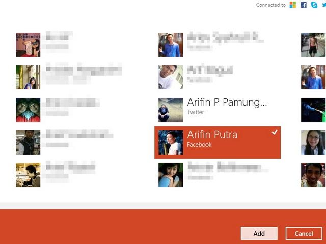 Cara Menghubungkan Akun di Aplikasi People Windows 8
