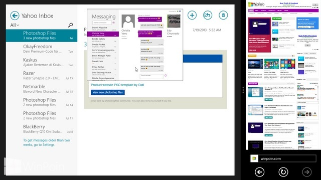 Cara Multitasking Aplikasi Metro di Windows 8