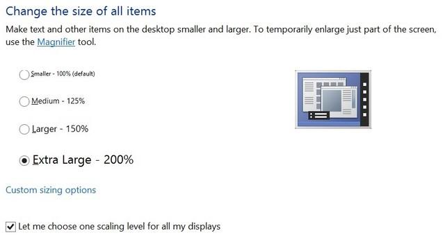 Windows 8.1 Memiliki Skala DPI yang Super Besar