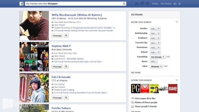 Trik Mencari Pacar dengan Menggunakan Facebook Graph Search