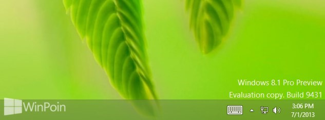 Cara Menghilangkan Watermark di Desktop Windows 8.1 Preview