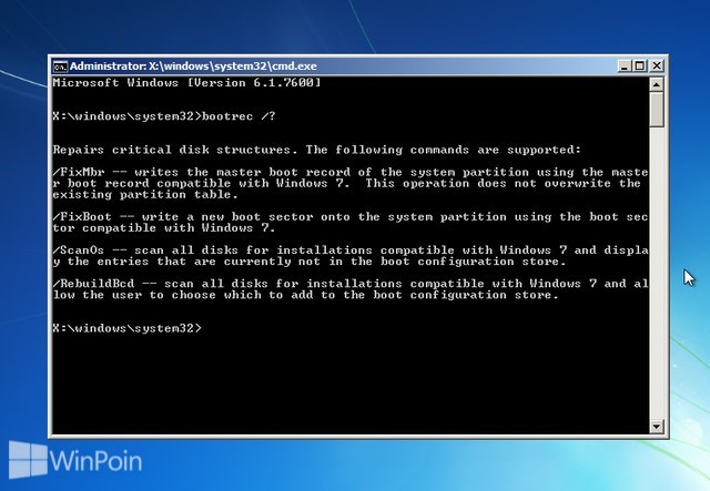 Cara Memperbaiki MBR (Master Boot Record) di Windows 7