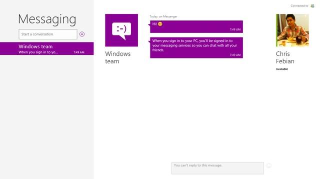 Aplikasi Messaging akan Digantikan dengan Skype di Windows 8.1