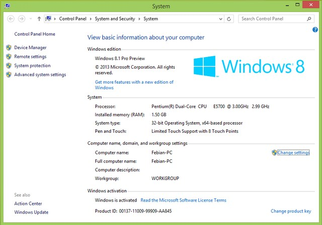 Fitur Windows Experience Index Ditiadakan di Windows 8.1 Preview
