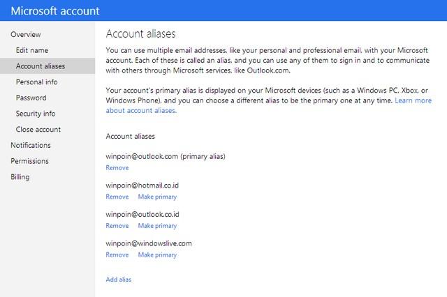Kini Kamu Bisa Login ke Microsoft Account Menggunakan Akun Alias Apapun
