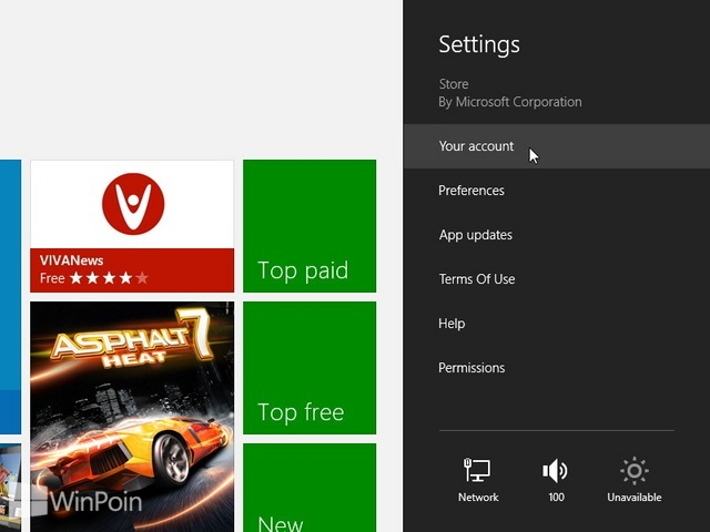 Cara Login dan Logout Windows Store di Windows 8