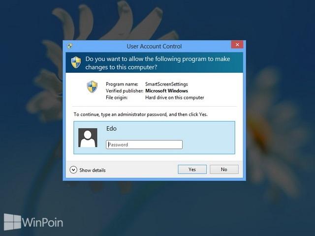 Cara Mematikan Windows SmartScreen di Windows 8