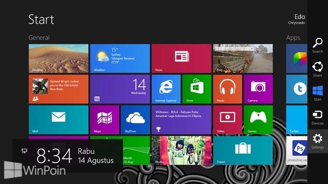 Cara Membersihkan Notifikasi Live Tile pada Start Screen di Windows 8