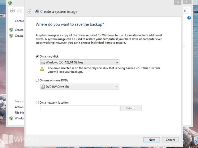 Cara Membuat System Image Windows 8