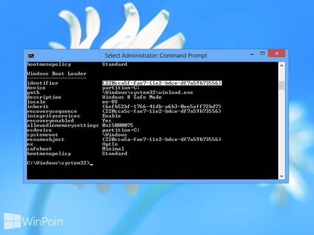 Cara Menambah Safe Mode di Windows Boot Manager Windows 8