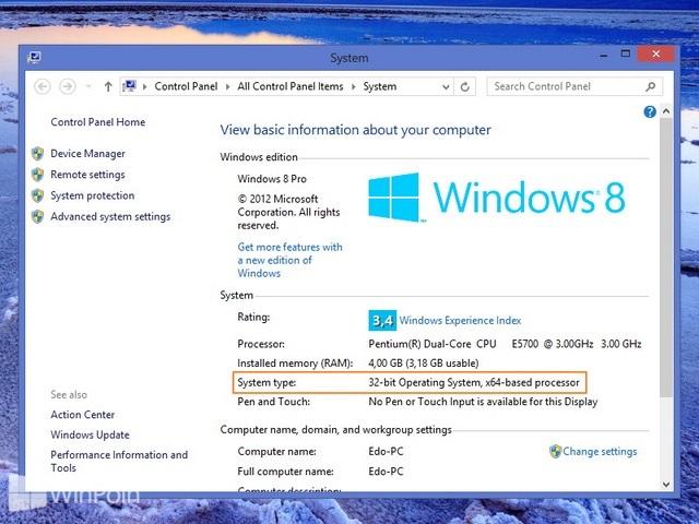Cara Mengetahui Versi Windows System Tipe