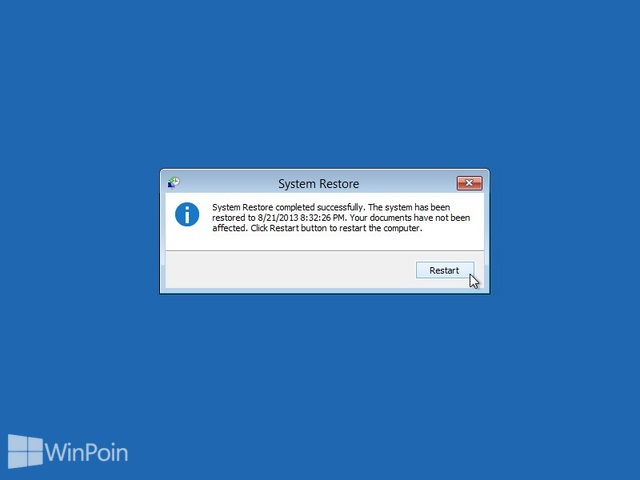 Cara Menggunakan System Restore Windows 8