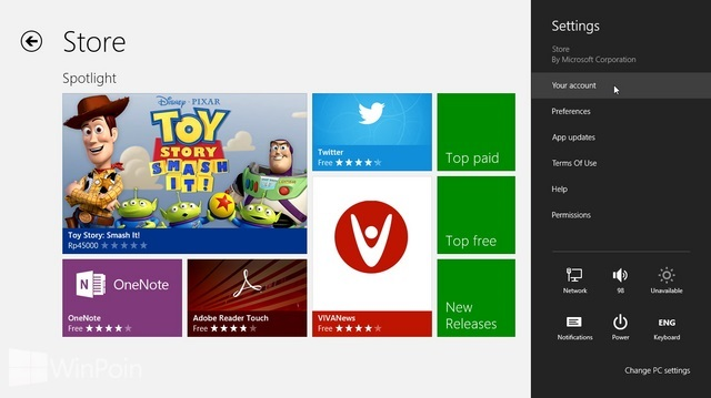 Cara Menghapus Nama PC dari Windows Store di Windows 8
