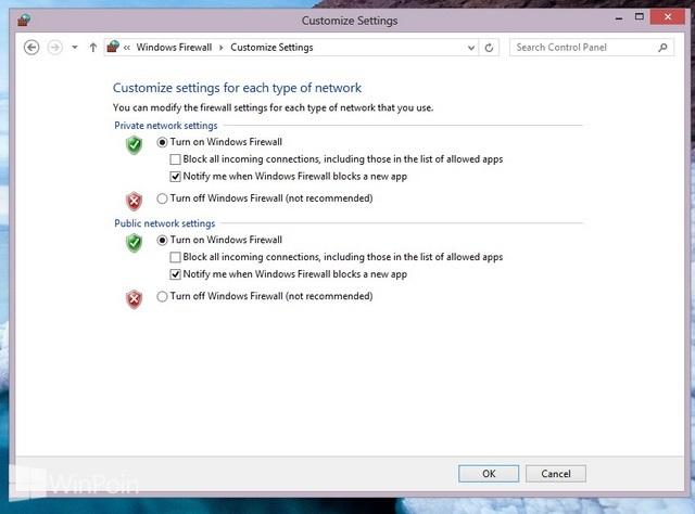 Cara Menghidupkan dan Mematikan Windows Firewall di Windows 7 & 8