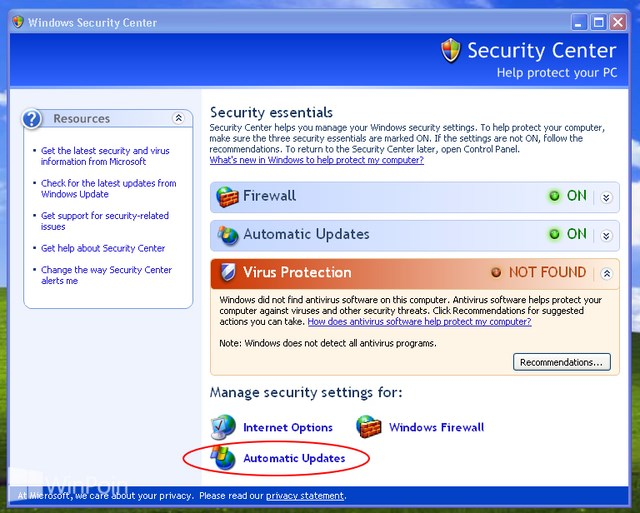 Cara Update Windows XP
