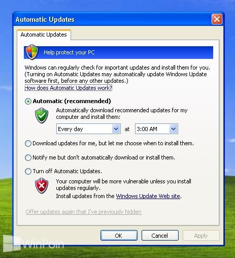 Cara Update Windows XP