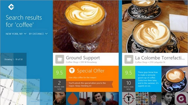Download Aplikasi Foursquare untuk Windows 8