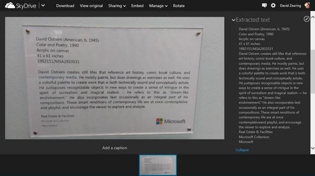 SkyDrive Kini Bisa Membaca Teks di Gambar!