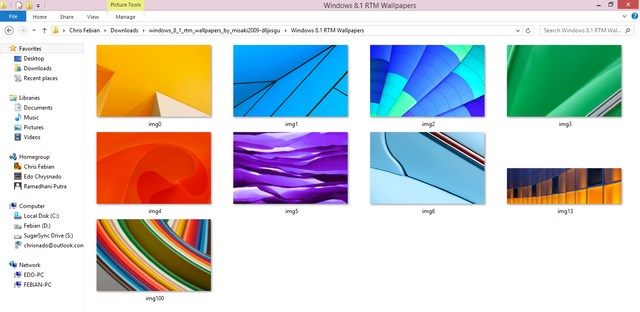 Download Semua Wallpaper Asli Windows 8.1 RTM