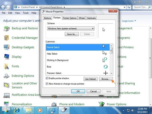 Cara Install Mouse Cursor di Windows 7