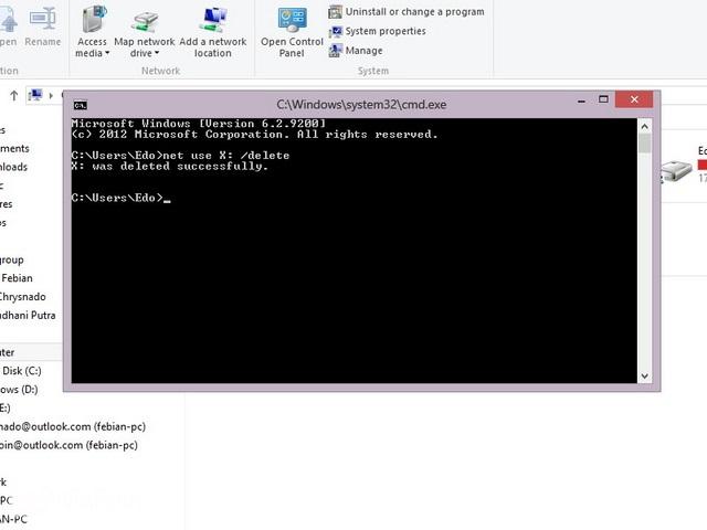 Cara Maping Network Drive Windows 7