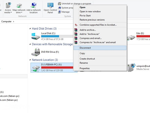 Cara Maping Network Drive Windows 7