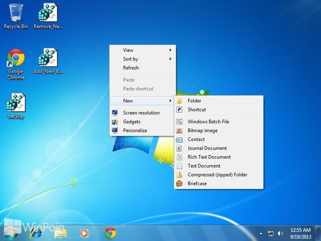 Cara Menambahkan New Batch File di Konteks Menu Windows