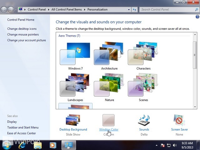 Cara Mengaktifkan Aero Glass Transparansi Windows 7