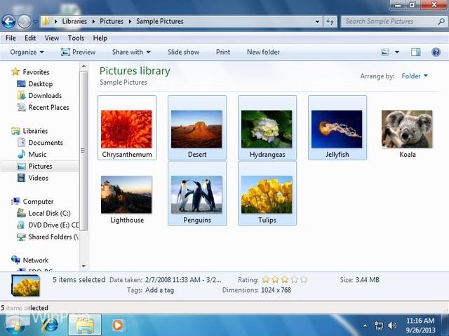 Cara Mengaktifkan dan Mematikan Statur Bar Windows Explorer di Windows 7