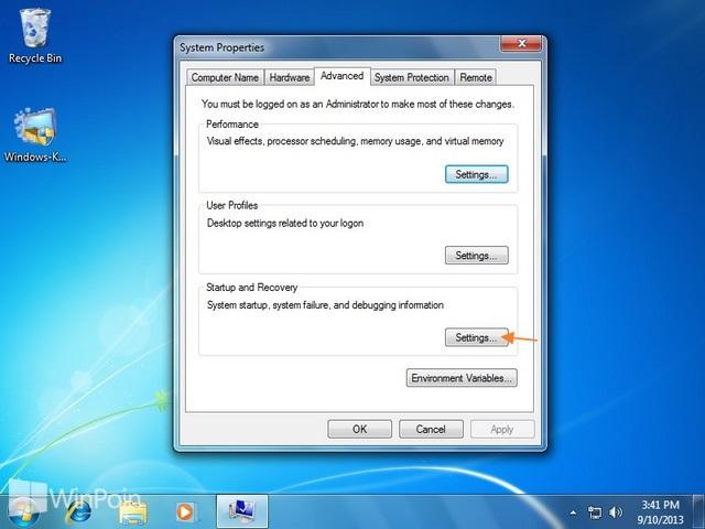 Cara Mengatur Windows untuk Membuat File Dump Ketika BSOD
