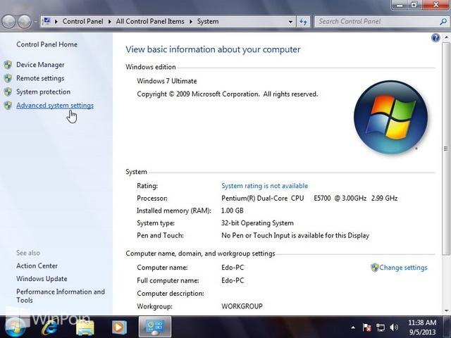 Cara Mengganti Pengaturan Visual Effect Windows 7