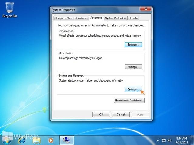 Cara Mengganti Lokasi Penyimpanan Memory Dump Windows