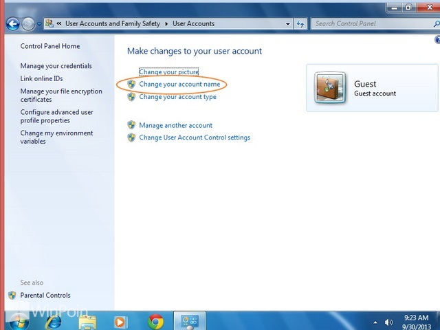 Cara Mengganti Nama Akun Guest di Windows 7