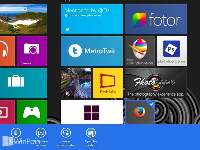 Cara Mengganti Icon dan Nama Tile di Windows 8