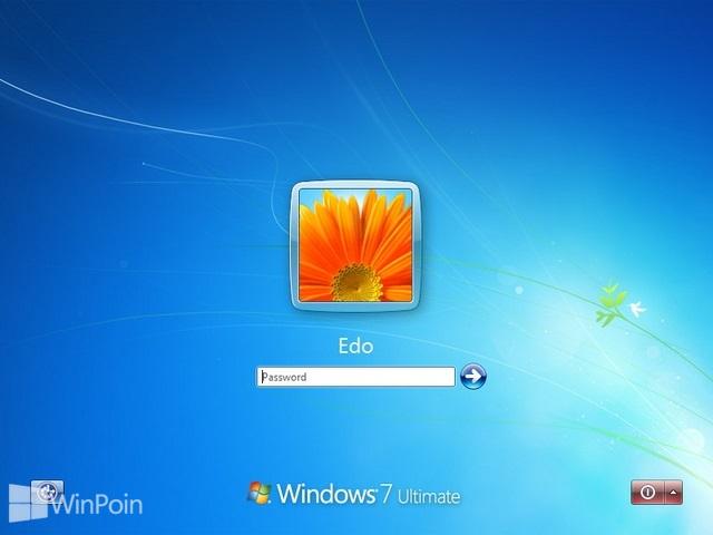Cara Mengubah Text Shadow Logon Screen Windows 7
