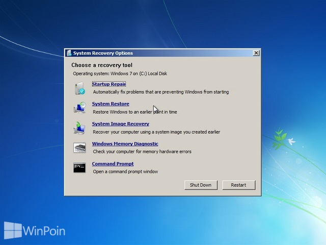 Cara Repair Windows 7