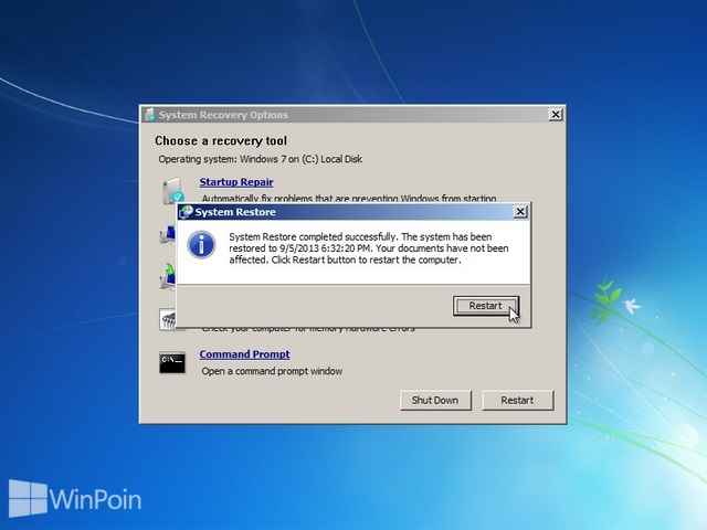 Cara Repair Windows 7