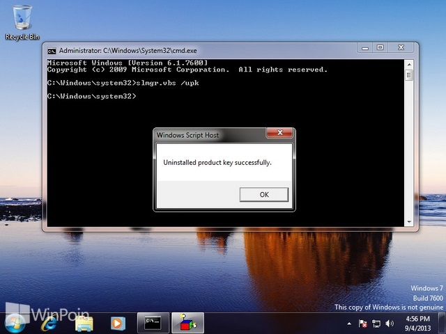 Cara Uninstall Product Key Windows