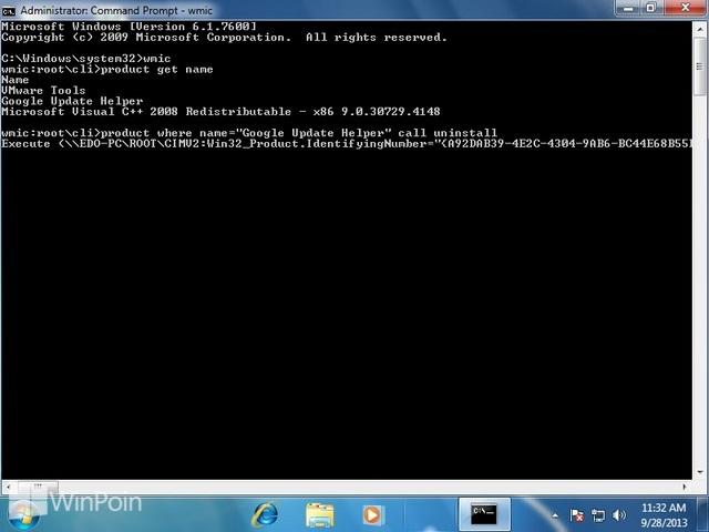Cara Uninstall Program dengan Command Prompt Windows