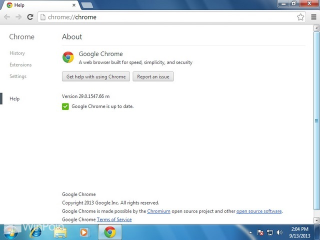 Cara Update Google Chrome di Windows