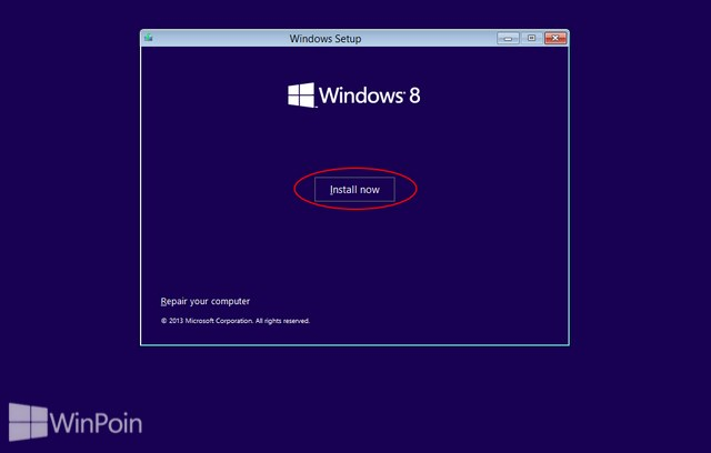 Cara Instal Windows 8.1