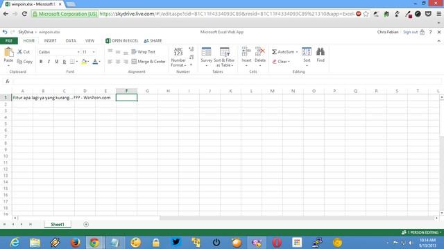Microsoft Butuh Saran Kamu: Fitur Apa yang Kamu Inginkan dari Excel Web App?